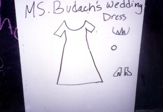 """Ms. Budach's Wedding Dress"""
