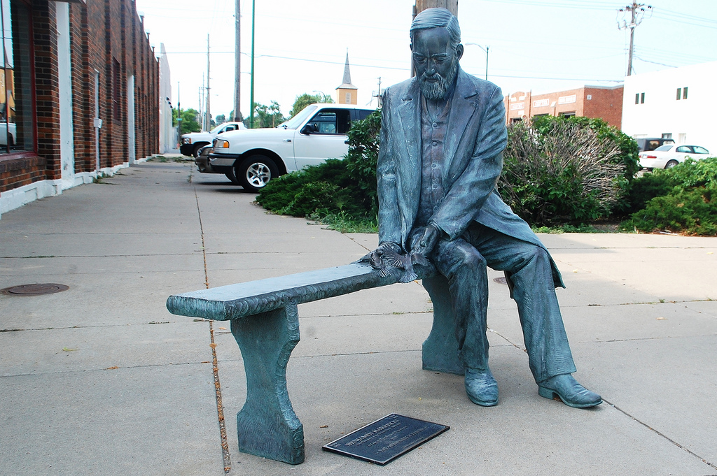 Benjamin Harrison statue