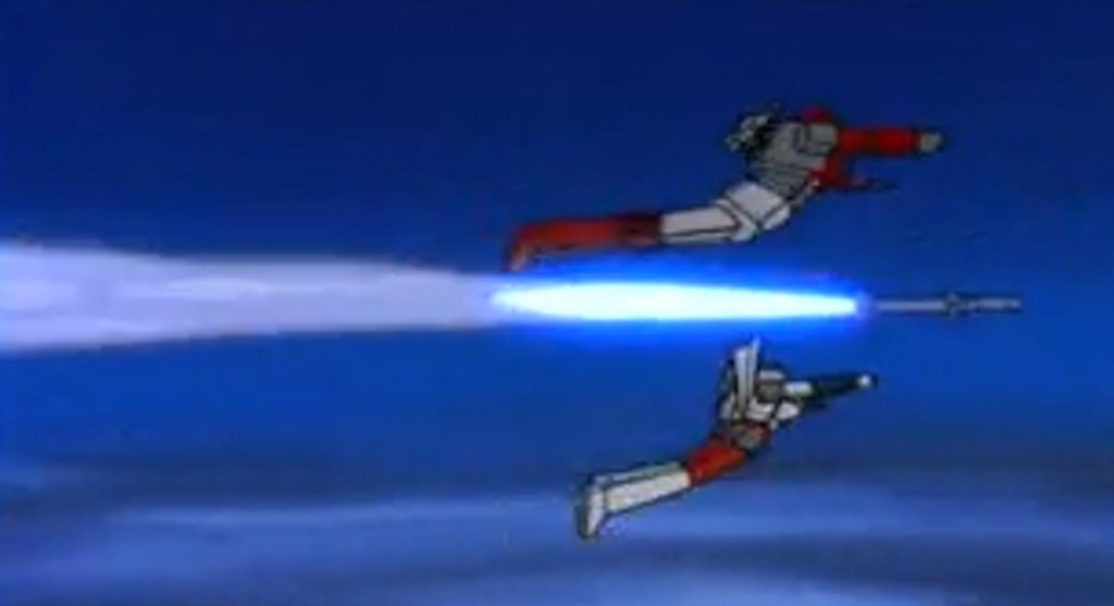 Ironhide takes off after the Decepticons
