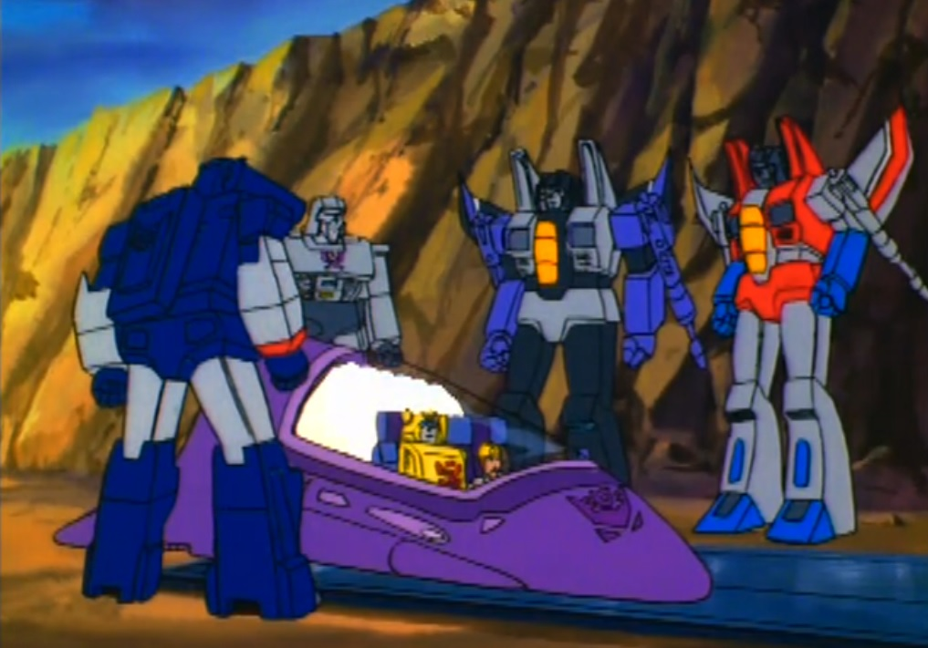 Decepticons force Bumblebee and Spike to ride toward the space bridge