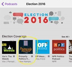 "Primarily Politics is ""New and Noteworthy"" on iTunes"