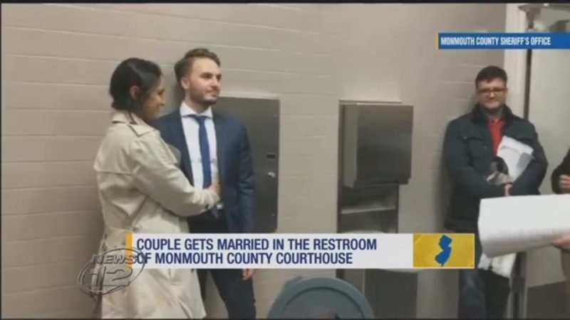 Couple Gets Married In The Restroom Of Monmouth County Courthouse