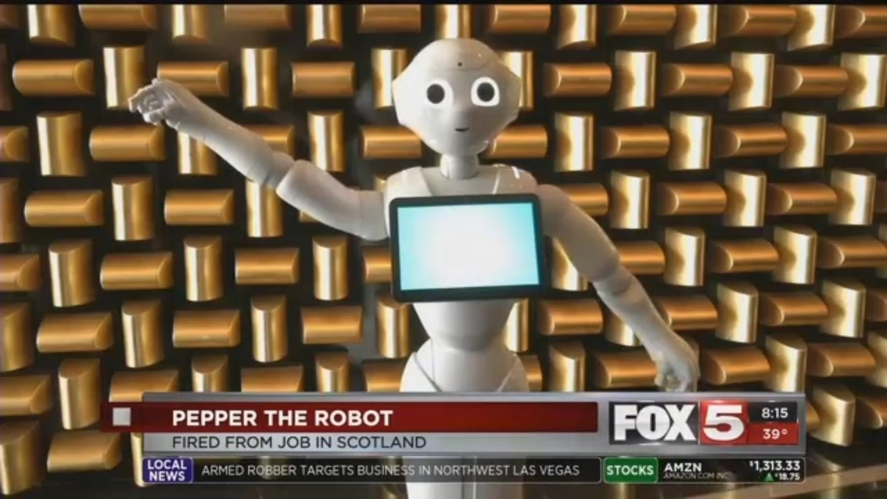 Pepper the Robot: Fired From Job In Scotland
