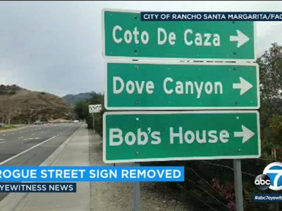 """Rogue Street Sign Removed: Bob's House this way"""
