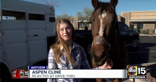 Aspen Cline: Rejected At Drive-Thru