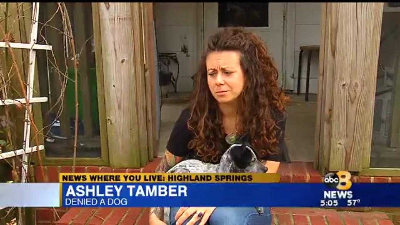 Ashley Tamber: Denied A Dog