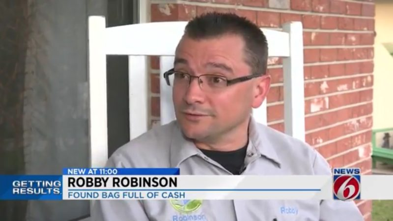 Robby Robinson: Found Bag Full Of Cash