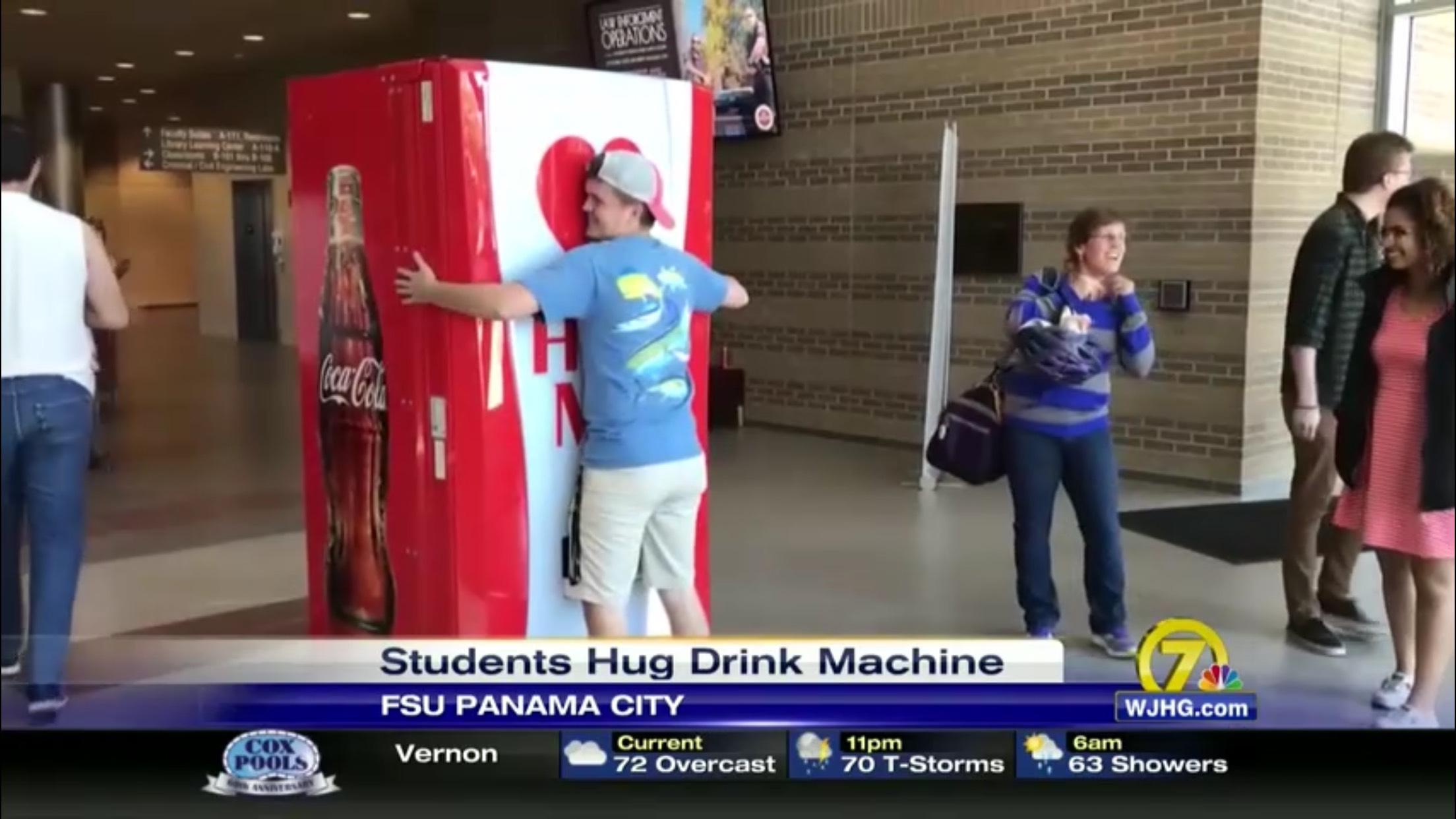 Students Hug Drink Machine