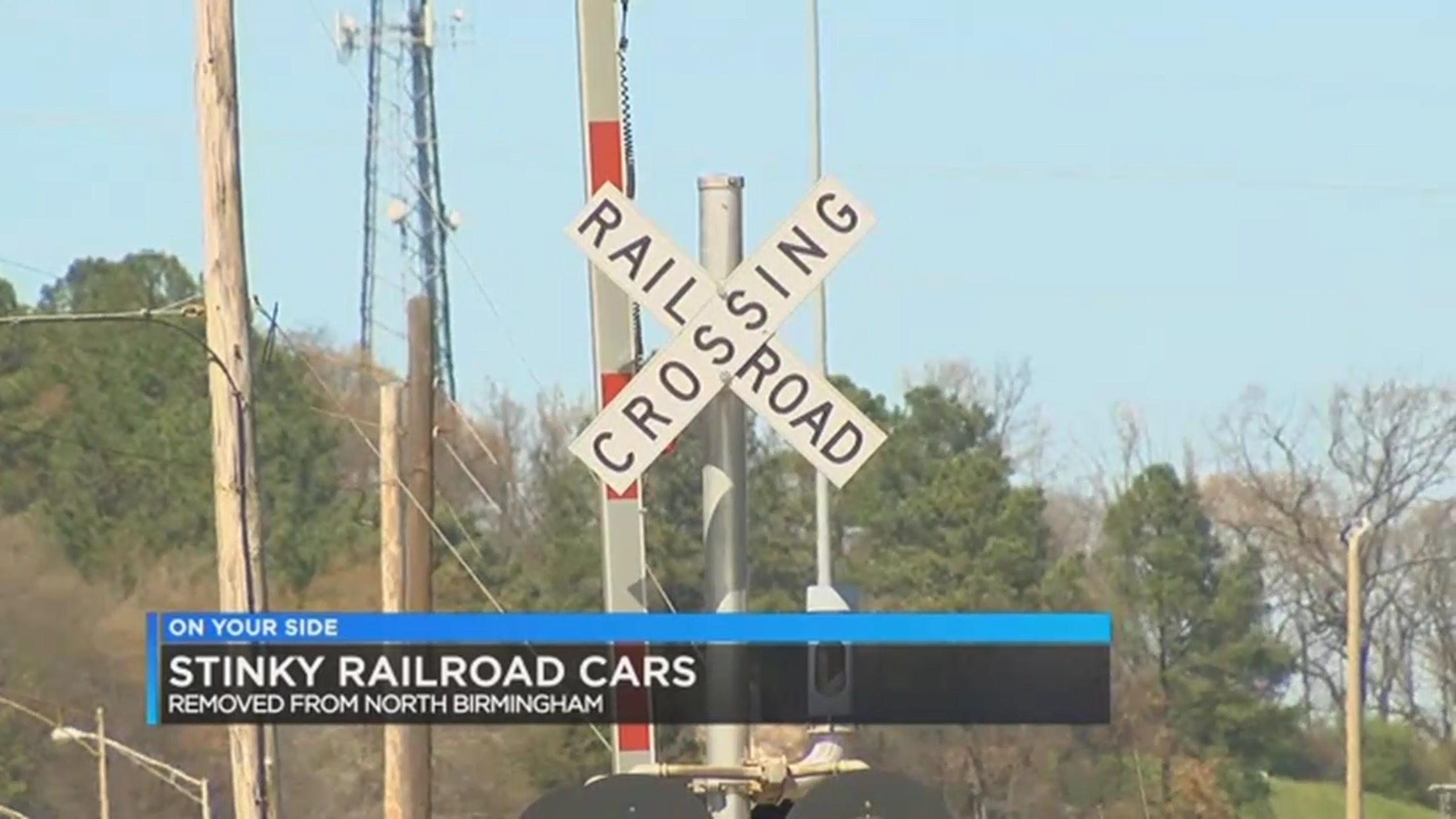Stinky Railroad Cars Removed From North Birmingham