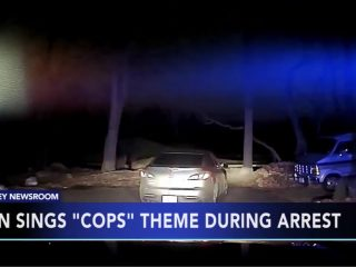 "Teen Sings ""Cops"" Theme During Arrest"