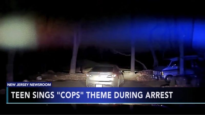 "Teen Sings ""Cops"" Theme During Arrest"