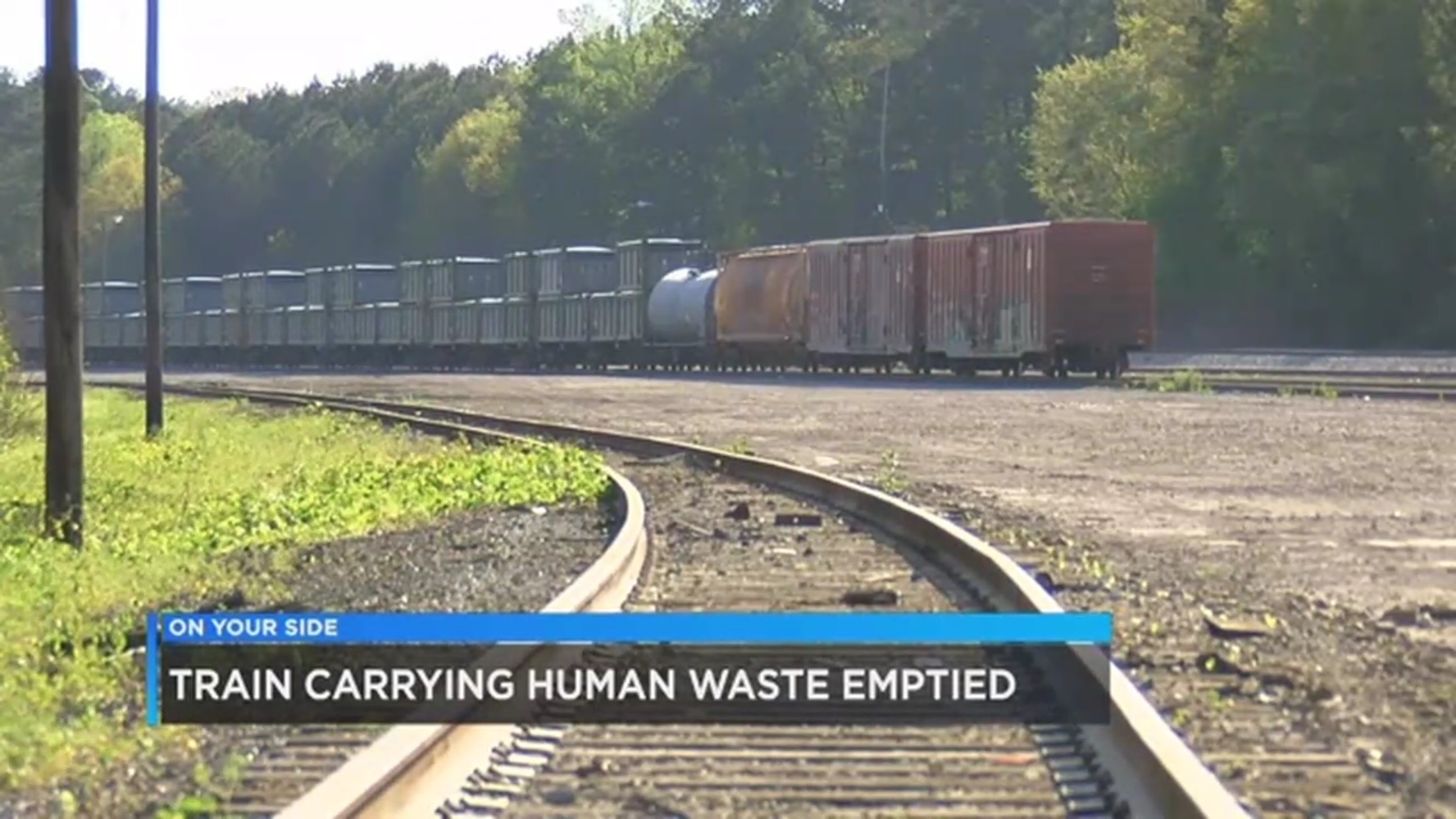 Train Carrying Human Waste Emptied