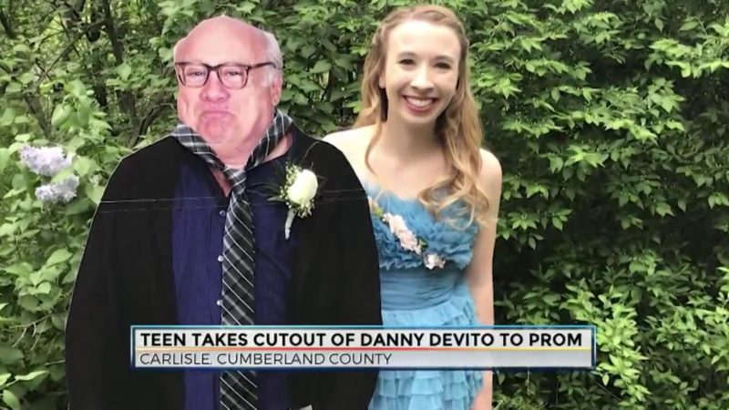 Teen Takes Cutout Of Danny Devito To Prom