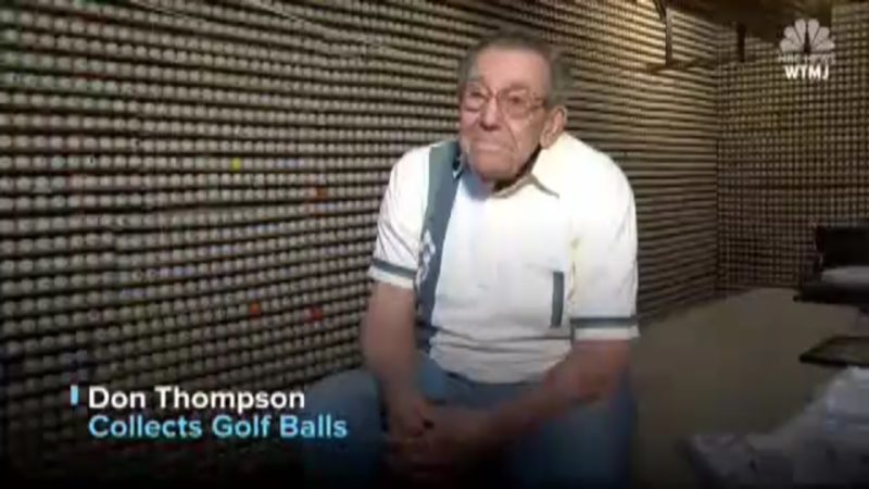 Don Thompson: Collects Golf Balls