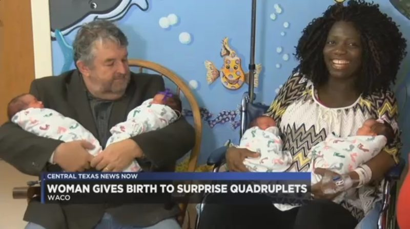 Woman Gives Birth To Surprise Quadruplets
