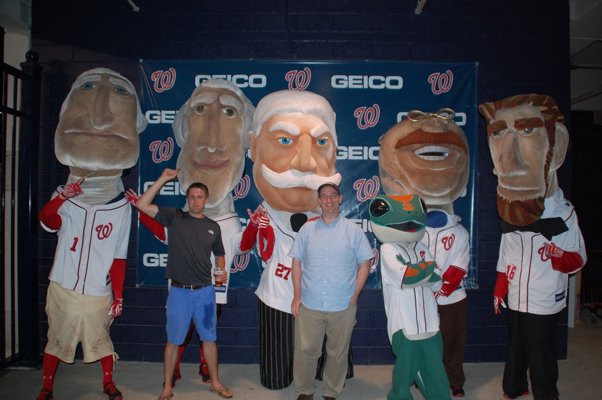 A bro photobombs me and the Racing Presidents