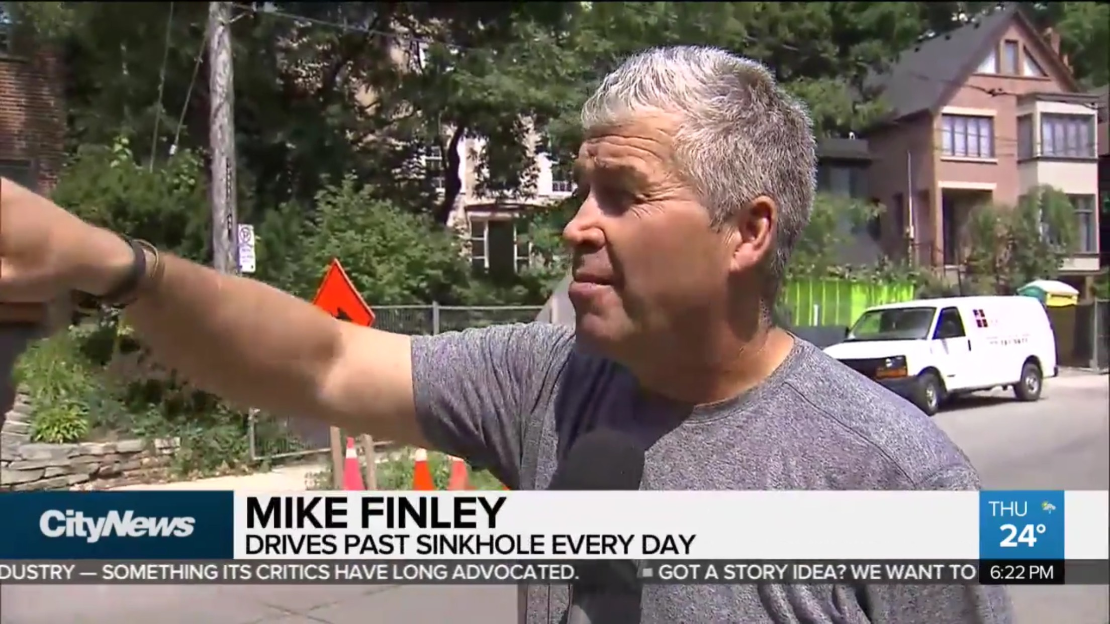 Mike Finley: Drives Past Sinkhole Every Day