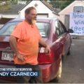 "Randy Czarnecki: Getting Ready For Flood. His list reads: ""Need Wine + Beer"""