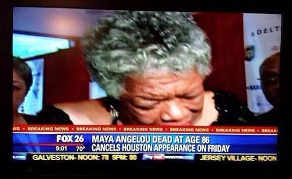 """Maya Angelou Dead At Age 86, Cancels Houston Appearance On Friday"""