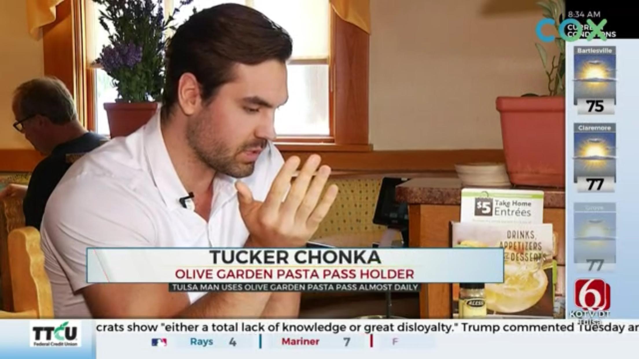 Tucker Chonka: Olive Garden Pasta Pass Holder