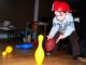 Three year old invents a new sport