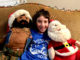 7 year old with Mr. T and Santa