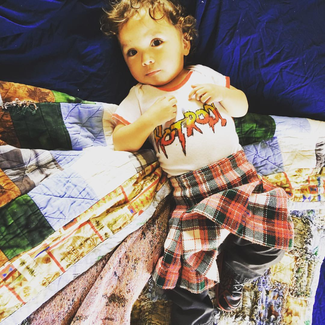 One year old in the Rowdy Roddy Piper costume