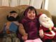 Nearly five year old with Santa and Mr. T