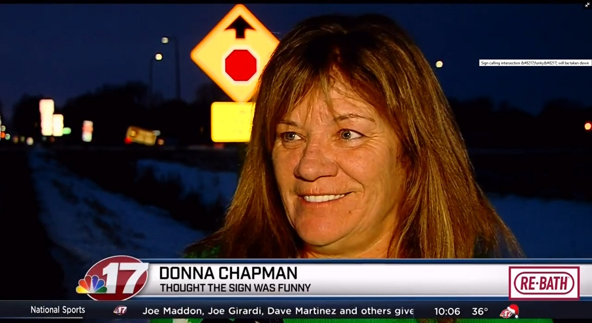 Donna Chapman: Thought The Sign Was Funny