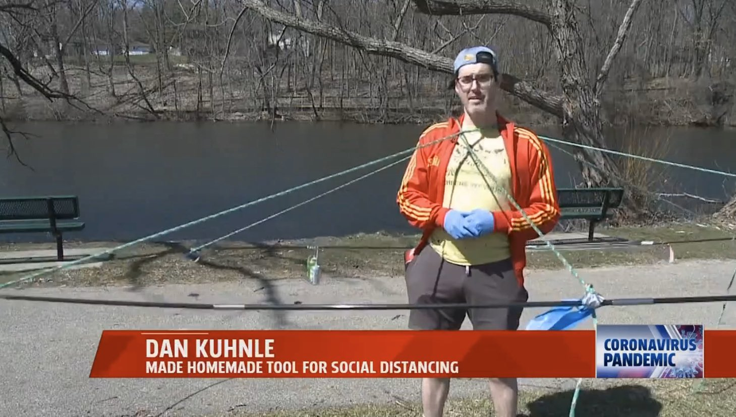 Dan Kuhnle: Made Homemade Tool For Social Distancing
