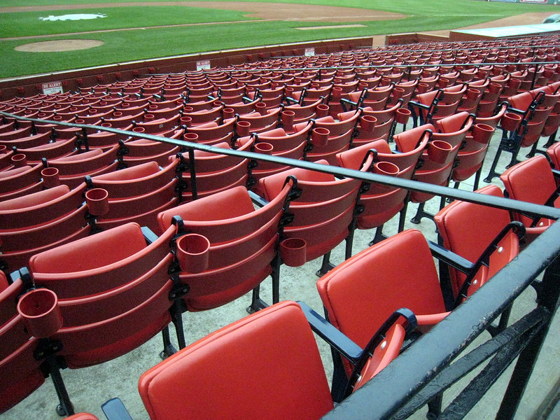 Empty seats at Fenway Park. (Photo by Logan Ingalls via Flickr/Creative Commons)