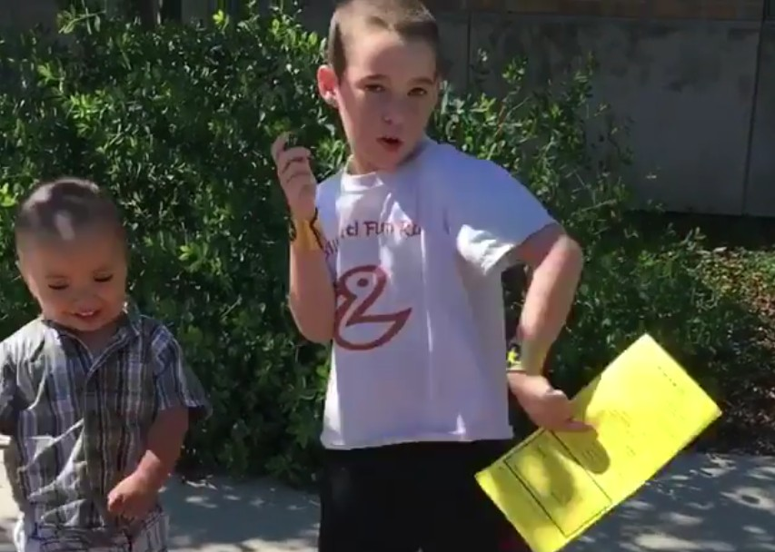 Big bro and little bro sing and dance