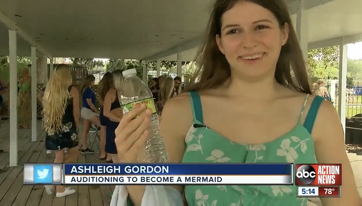Ashleigh Gordon: Auditioning to Become a Mermaid