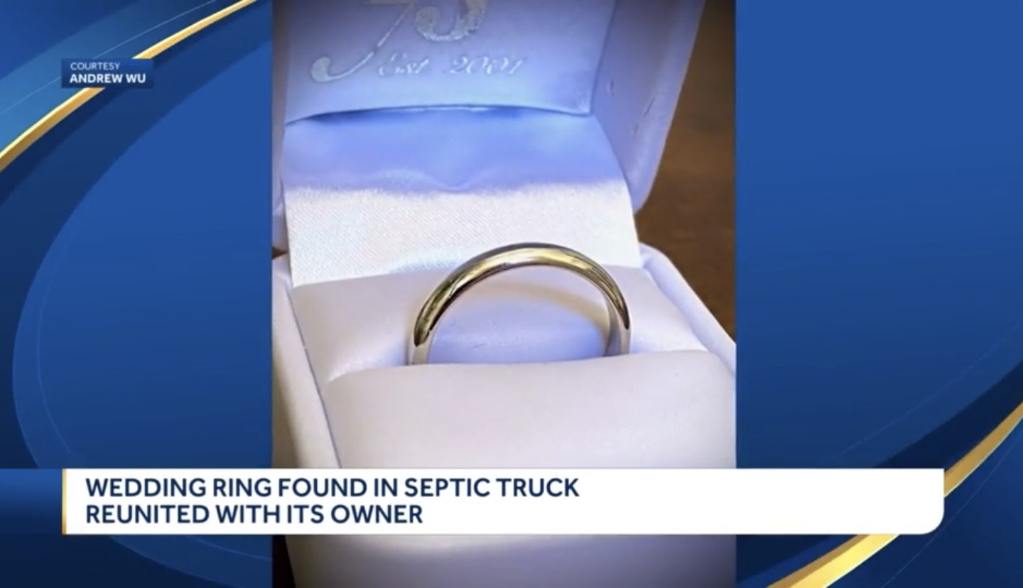 Wedding Ring Found In Septic Truck Reunited With Its Owner