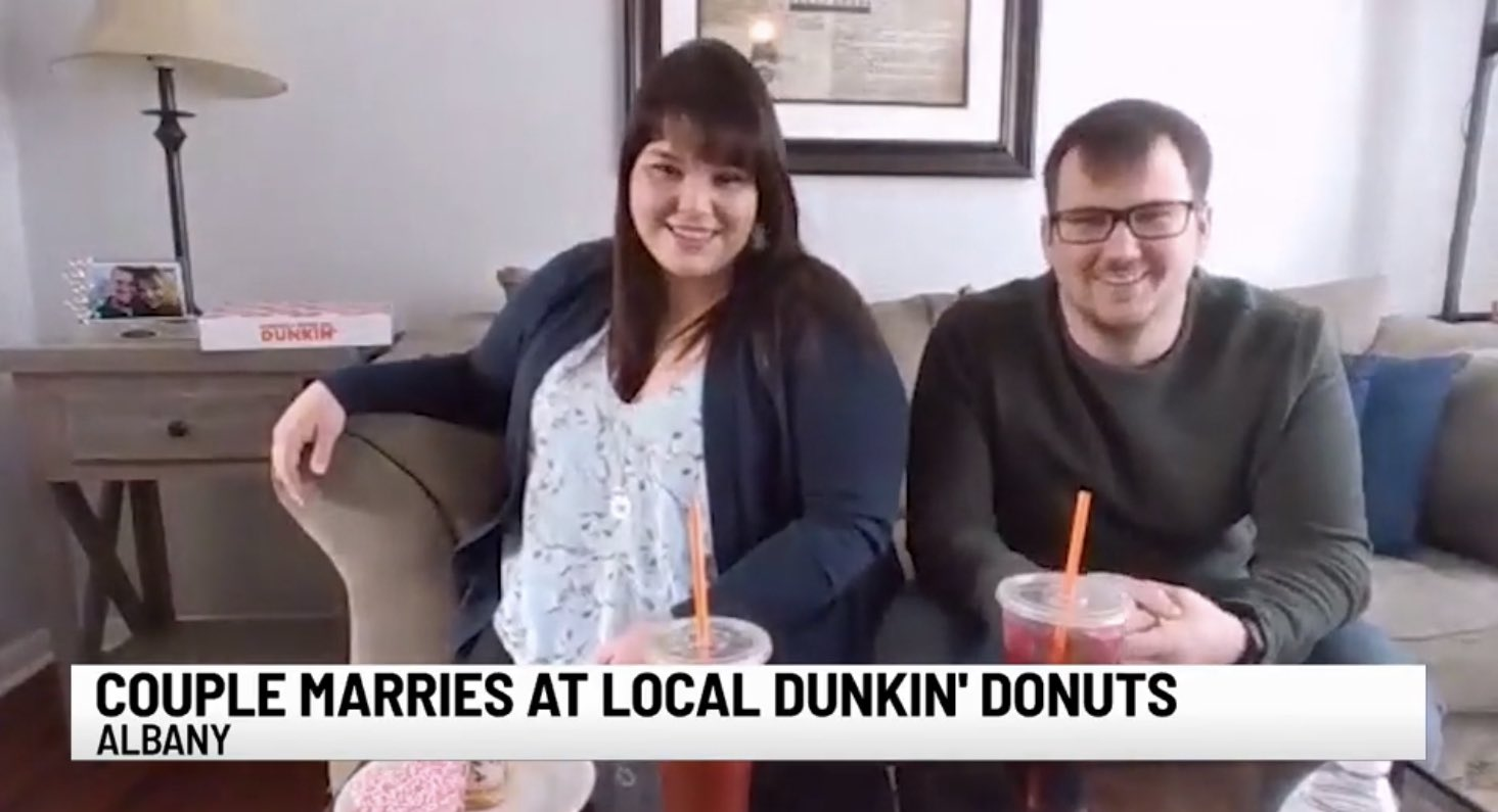 Couple Marries At Local Dunkin Donuts