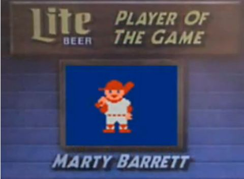 Marty Barrett, player of the game