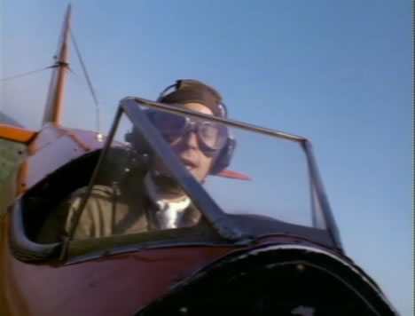 Murdock flies an airplane