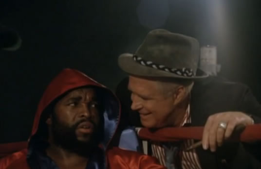 B.A. and Hannibal at a boxing ring