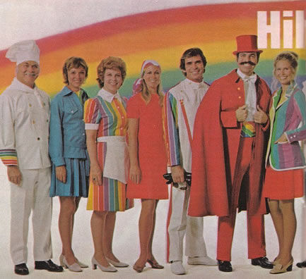 some very colorful uniforms