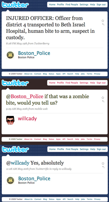Boston PD will definitely let you know if there's a zombie coming