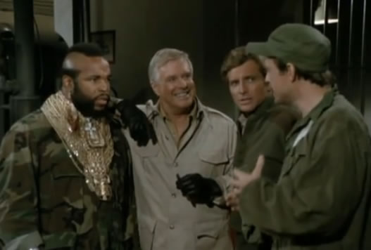 The A-Team makes a plan inside a prison
