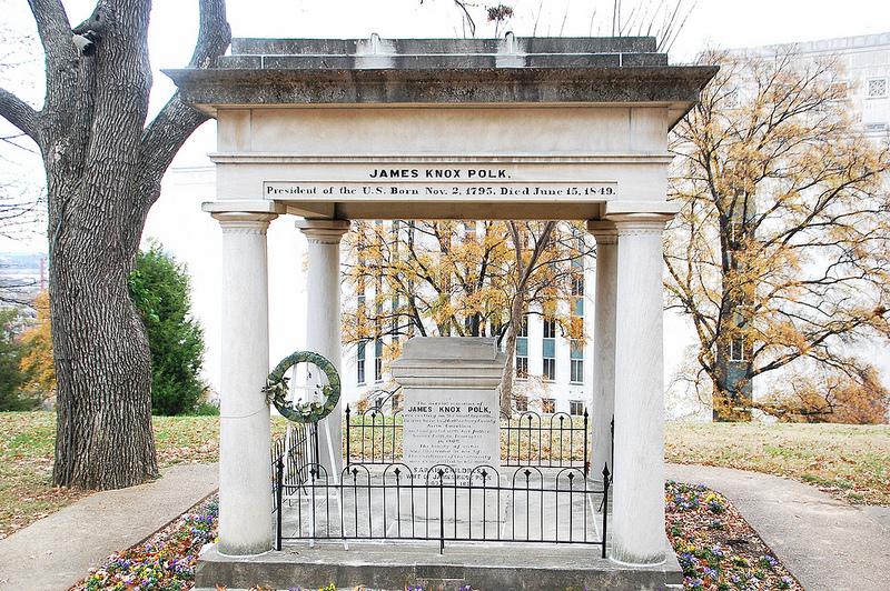 James K. Polk's tomb in Nashville