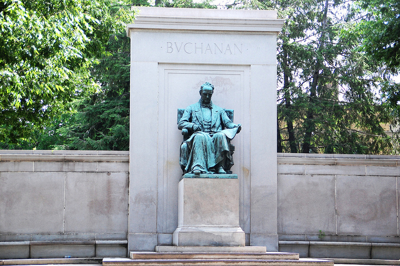 The James Buchanan Memorial in Washington's Meridian Hill Park.