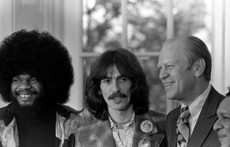 Billy Preston, George Harrison and Gerald Ford