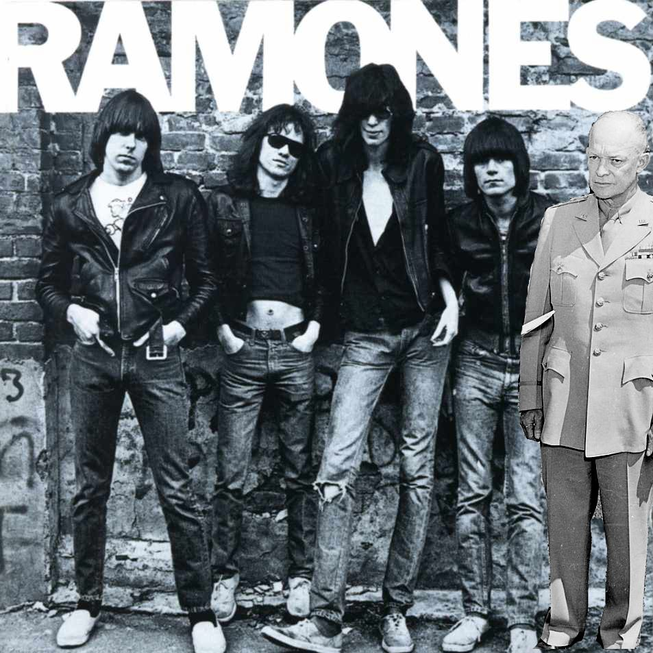 Dwight D. Eisenhower with the Ramones
