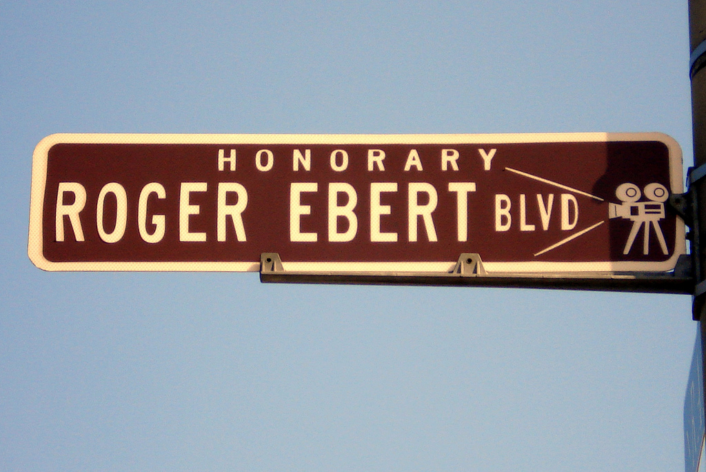 "Sign: ""Honorary Roger Ebert Blvd"""
