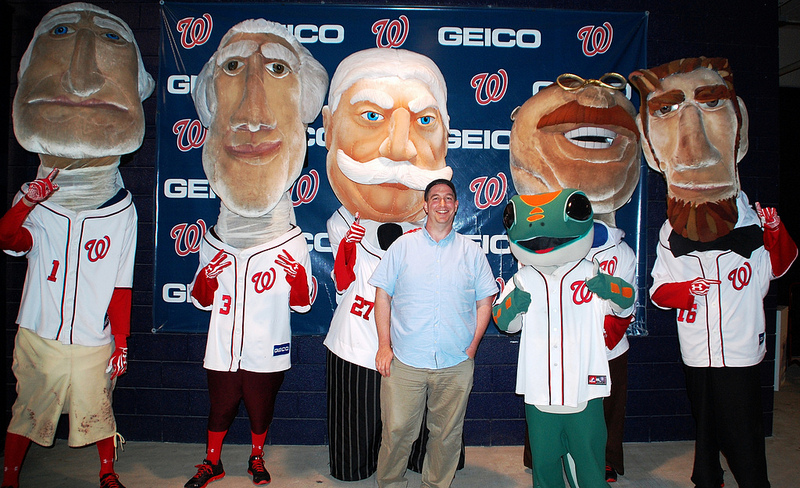 The racing presidents and Brady, and the Geico gecko.