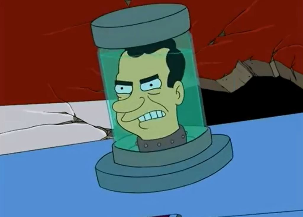 "Nixon's head on ""Futurama"""