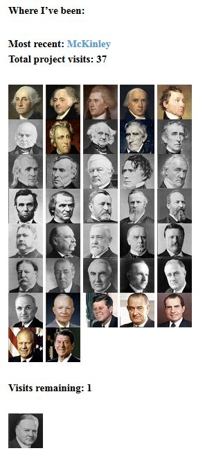 Just one president left to visit!
