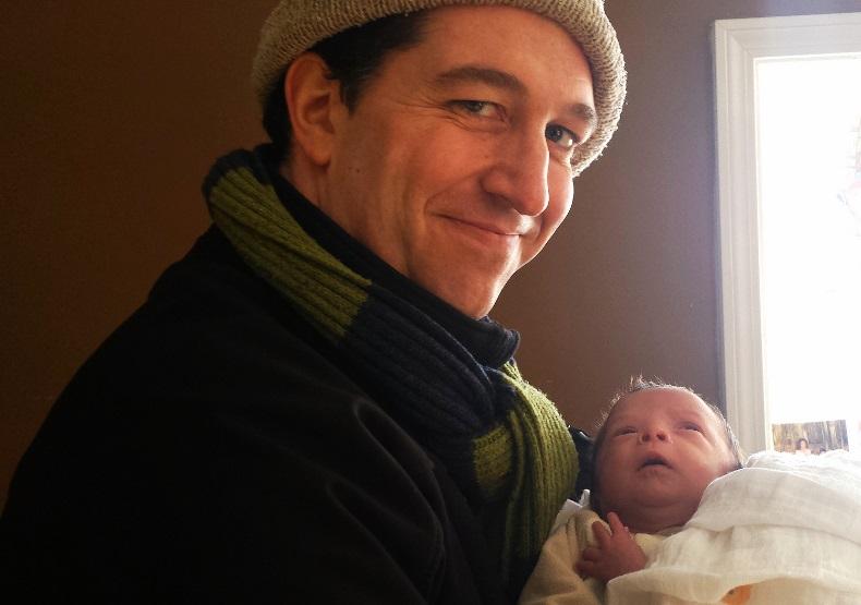 Papa and baby Wyatt